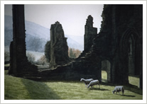 Transept of Llanthony Priory, Wales